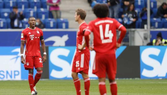 Bayern Múnich perdió una racha de casi diez meses este domingo. (Foto: EFE)