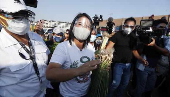 Keiko Fujimori iniciará mañana sus viajes de campaña por el interior del país. (Hugo Perez /GEC)