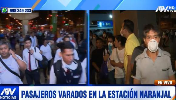 Los pasajeros reclamaron que las autoridades hayan cerrado las estaciones horas antes del inicio de la inmovilización obligatoria. (ATV)