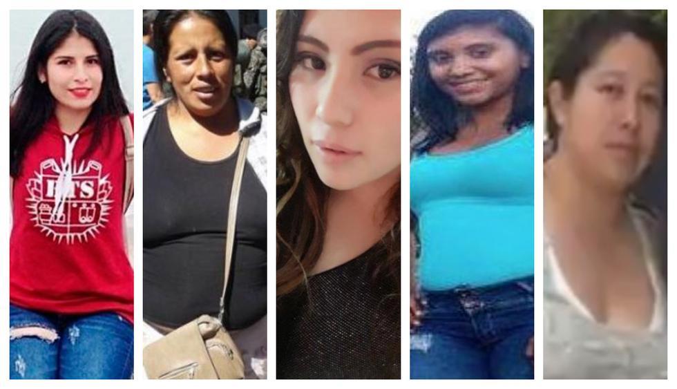 De izquierda a derecha: Eyvi Ágreda, Juanita Mendoza, Marisol Estela Alva, Helen Hernández Zavaleta y Julia Reyner Valenzuela. (Fotos: Facebook)