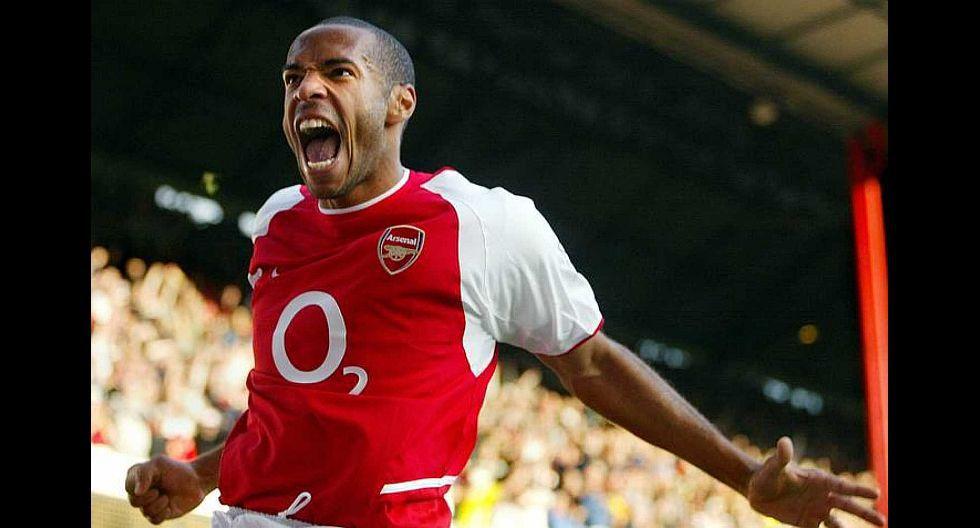 4.- Thierry Henry (Arsenal), en 53.9 millones de dólares. (Foto: Agencias)