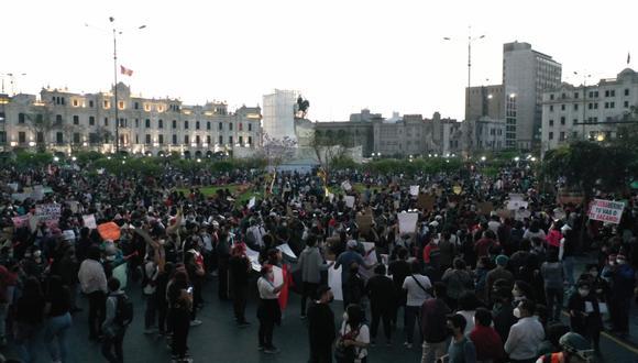 De acuerdo con las imágenes de esta convocatoria, la concentración iniciará a las 2:00 p.m. En el caso de Lima, el punto de concentración será, nuevamente, en la Plaza San Martín, ubicado en Cercado de Lima. (Foto: GEC)