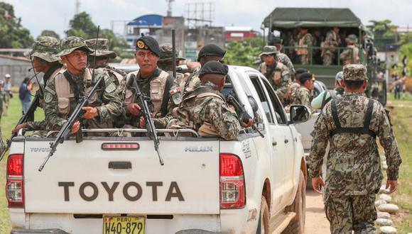 Las Fuerzas Armadas y la Policía Nacional ejecutaron este martes el operativo Mercurio 2019 en la zona de La Pampa. (Difusión)