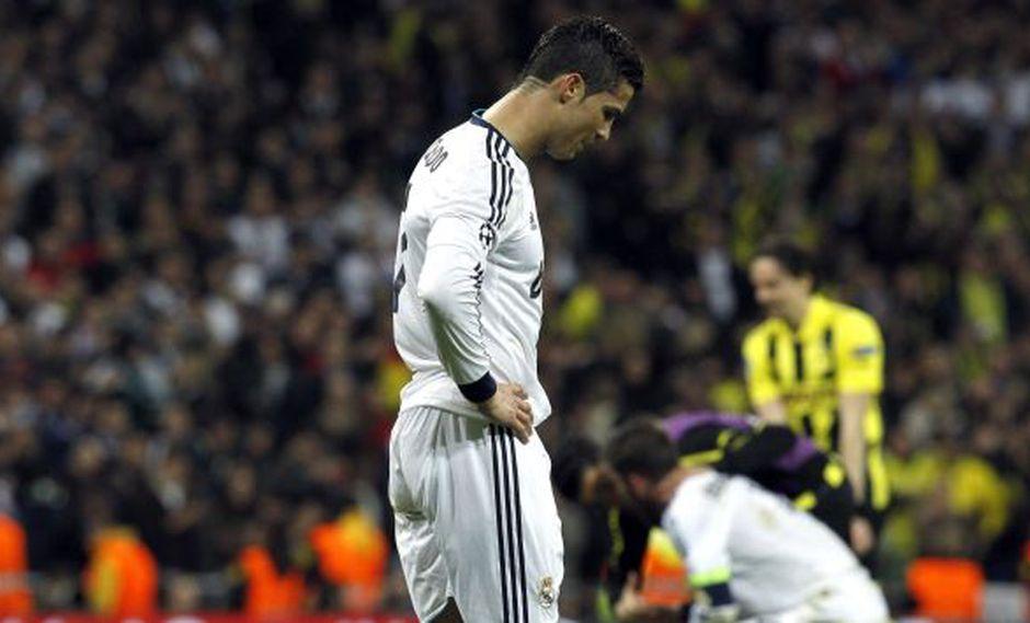 QUÉ DOLOR. Ronaldo no apareció y acabó frustrado.  Termina esta Champions con 12 goles. (EFE)