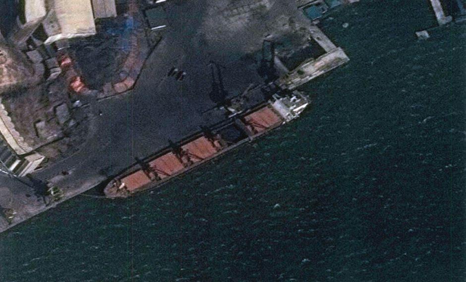 El navío había sido bloqueado el año pasado en Indonesia y su capitán detenido por las autoridades estadounidense. En julio, se lanzó el procedimiento de incautación. (Foto: EFE)