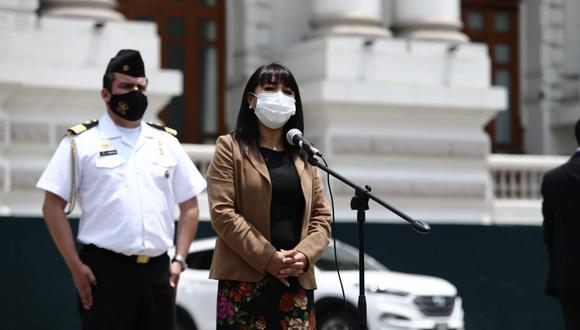 Mirtha Vásquez dijo confiar que el resto de bancadas no apoyará la censura desde Podemos Perú. (Foto: Jesús Saucedo / photo.gec)