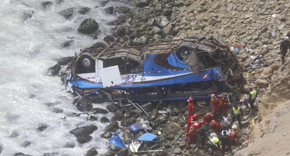 Accidente en Pasamayo (Mario Zapata/Perú21)