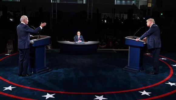 Joe Biden y Donald Trump protagonizaron el primer debate cargado de interrupciones e insultos. (EFE/OLIVIER DOULIERY).