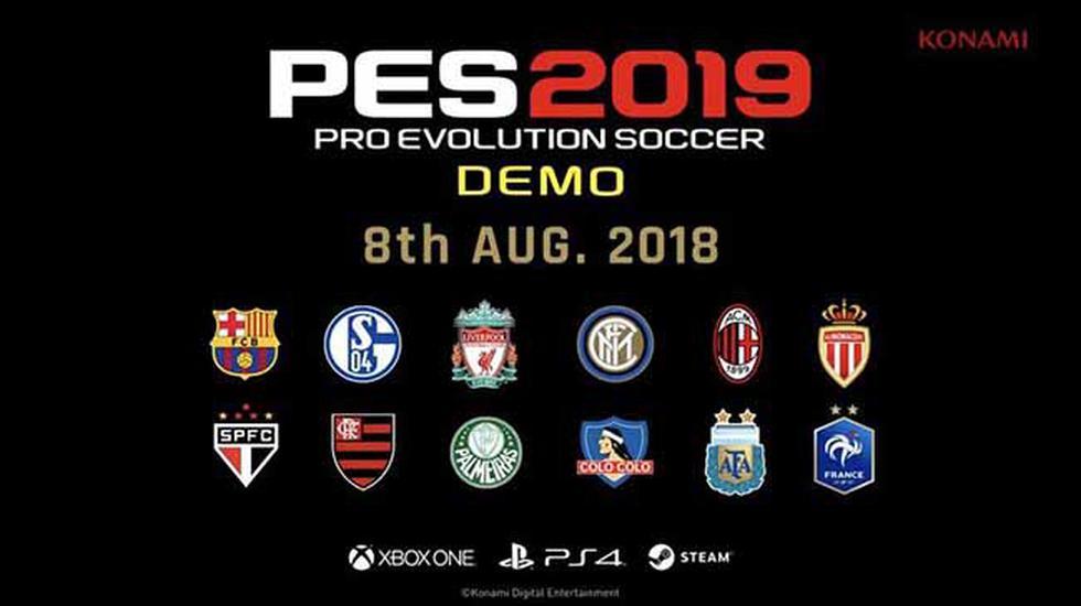 El 8 de agosto estará disponible el demo del esperado PES 2019.