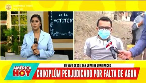 """'Chikiplum' sobre corte de agua en San Juan de Lurigancho: """"Es bastante difícil la situación"""". (Foto: captura de video)"""