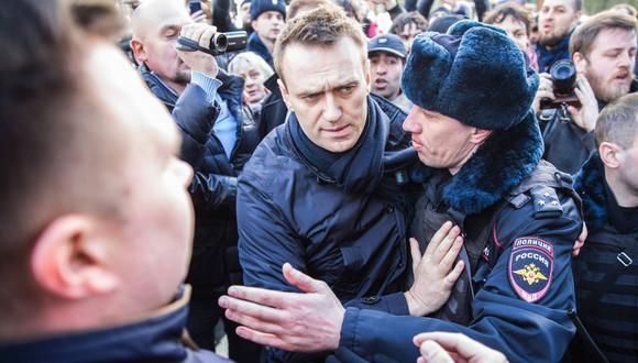 Imagen de archivo de Alexéi Navalni, abogado de 44 años, y uno de los críticos más duros contra el Kremlin. (Foto: AFP)