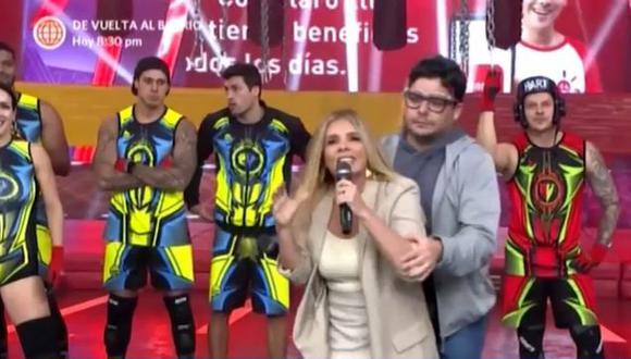 Johanna San Miguel tuvo que ser contenida por su partner Gianpiero Díaz.