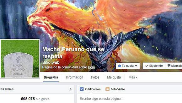 Actualmente la cuenta original posee más de medio millón de fans. La que fue cerrada estaba por los 331,000. (Facebook/Macho peruano que se respeta)