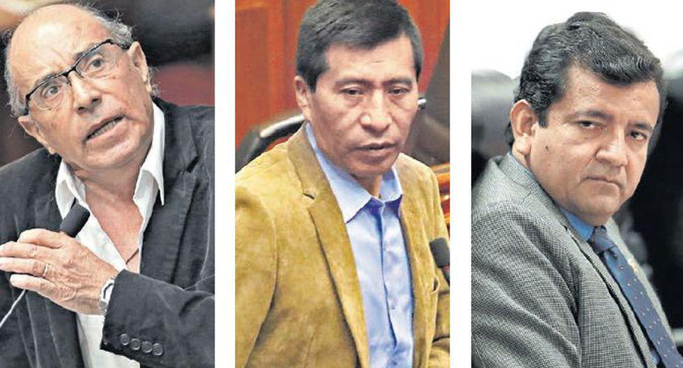 AFUERA, pa' la calle. En breve, dos podrían dejar el Congreso y el otro ser suspendido por 120 días. (GEC)