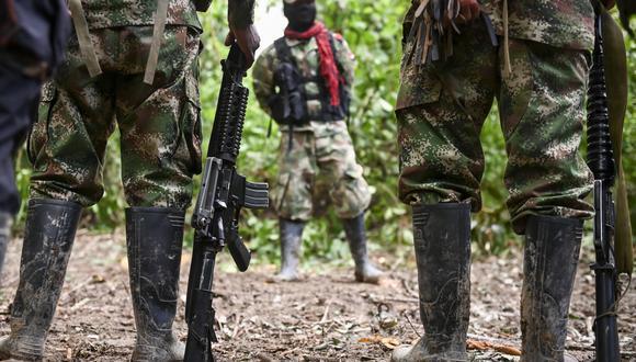 Imagen referencial de miembros de la Guerrilla ELN de Colombia (Foto: Raul ARBOLEDA / AFP)