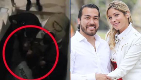 Sofia Franco y Álvaro Paz de la Barra han han visto envueltos en hechos de violencia en  los último días, que los han llevado incluso a permanecer detenidos en la comisaría de Santa Felicia.(Foto: Captura de video/GEC)