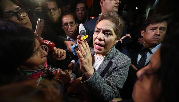 La congresista de Fuerza Popular, Luz Salgado, expresó su sorpresa ante el pedido de asilo diplomático de Alan García. (Foto: USI)