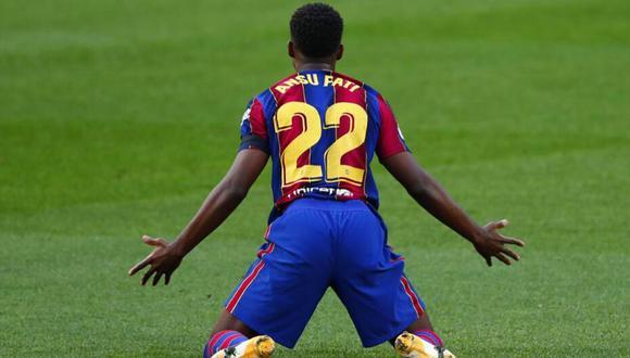Ansu Fati: médicos recomiendan tratamiento conservador con jugador de Barcelona. (Foto: AP)