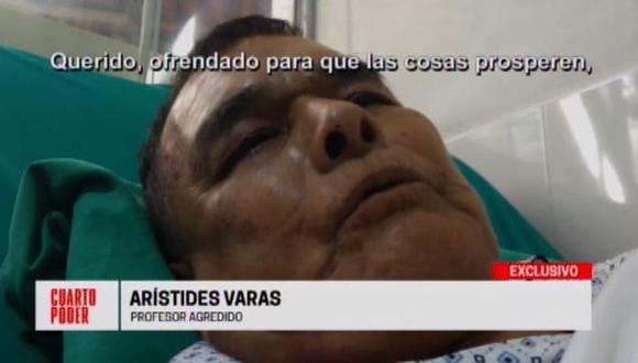 Arístides Varas dio su testimonio sobre el ataque que sufrió en el   interior del colegio San Isidro, en Chosica. (Foto: Cuarto Poder)