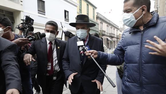 Ciro Gálvez tuvo una reunión de cerca de 10 minutos con el premier Guido Bellido (Jessica Vicente/GEC).