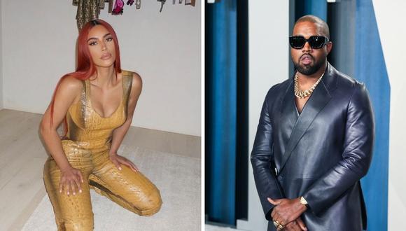 Kim Kardashian no esperó que su esposo Kanye West cuente un episodio muy íntimo de su familia. (Instagram: @kimkardashian / Foto de Jean-Baptiste Lacroix / AFP).