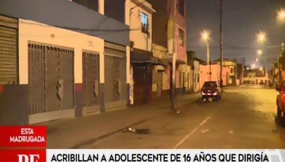 Menor fue asesinado esta madrugada a pocos metros de su vivienda ubicada en la cuadra 1 del jirón Cusco. (Captura: América Noticias)