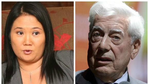 Keiko Fujimori manifestó que se comunicó con Mario Vargas Llosa para agradecerle su respaldo (GEC).
