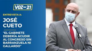 """José Cueto: """"El gabinete Vásquez debería acudir al Congreso sin Barranzuela ni Gallardo"""""""