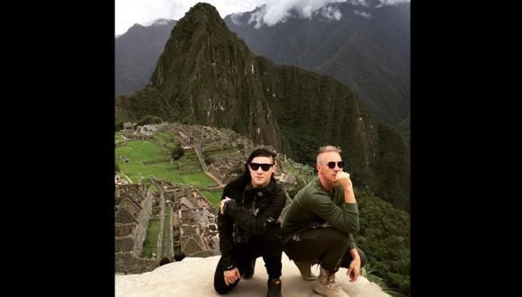 Skrillex visitó Machu Picchu antes de su concierto en Lima. (Twitter)