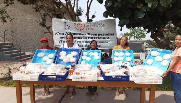 Se repartieron productos como vegetales, embutidos, panes, sándwiches preparados, pizzas, entre otros. (Foto: Delosi)