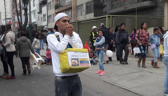 Los hermanos venezolanos vendieron arepas y comidas típicas de su tierra. (Perú21)