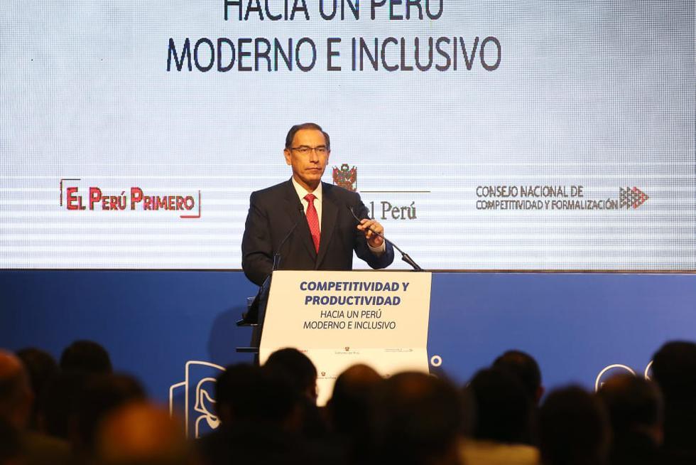 Martín Vizcarra participó este jueves en el I Encuentro Nacional de los Gobiernos Locales y Congreso Eleccionario. (Manuel Melgar/GEC)