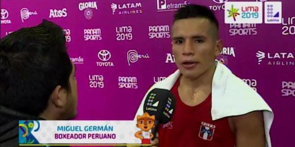 Boxeador peruano Miguel Ángel Germán rompe en llanto tras perder pelea. (Latina)