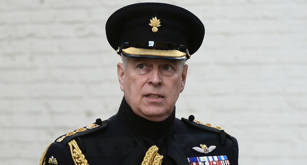En esta foto de archivo tomada el 7 de septiembre de 2019, el príncipe Andrés de Gran Bretaña, duque de York, asiste a una ceremonia en conmemoración del 75 aniversario de la liberación de Brujas (Bélgica). (JOHN THYS / AFP).