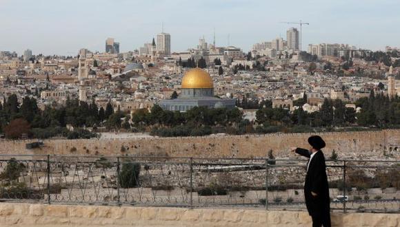 Vista desde el Monte de Los Olivos, en la vieja Jerusalén. (EFE)
