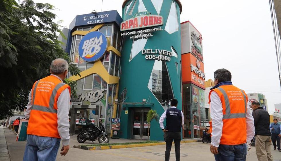 El operativo de la Municipalidad de Magdalena se realizó en la cuadra 8 de la avenida Javier Prado Oeste. (Difusión)