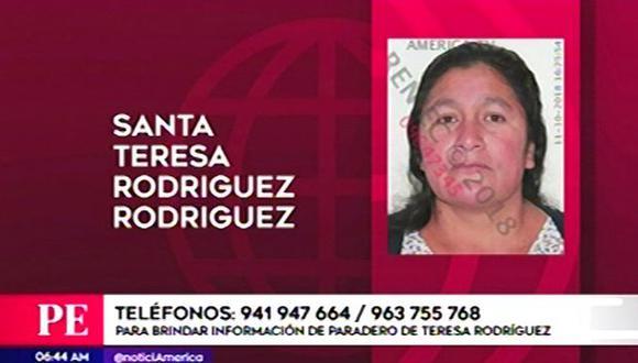 Está desaparecida desde hace varios días. (Foto: Captura/América Noticias)