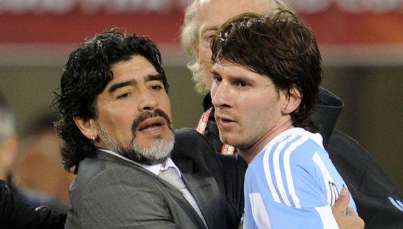 Primo de Lionel Messi salió en su defensa tras ataques de Maradona. (Foto: AFP)