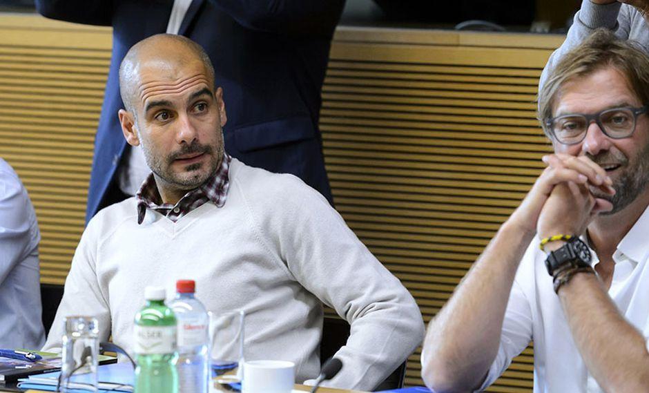 Jürgen Klopp respondió a los halagos de Pep Guardiola, a poco del duelo entre Manchester City vs. Liverpool por la Premier League. (Foto: AP)