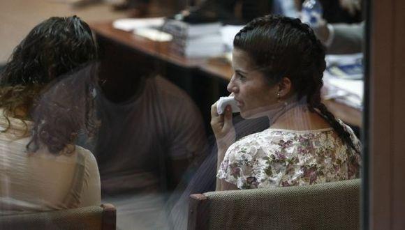 Eva Bracamonte y Liliana Castro quieren que testigo cambie su versión. (César Fajardo)
