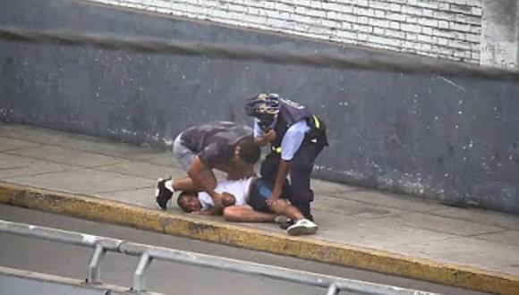 Capitán PNP capturó a raquetero que le arrebató su celular tras una persecución con apoyo de los serenos.