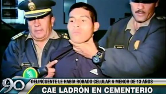 Leo Gianpier Quispe Corrales (18) fue detenido por un policía en el cementerio El Ángel. (Frecuencia Latina)