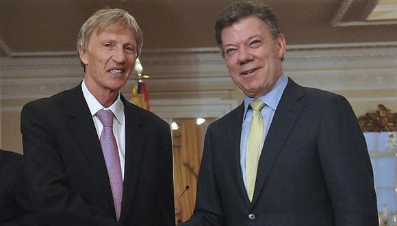 Pekerman se reunió con Santos en la sede presidencial. (Reuters)