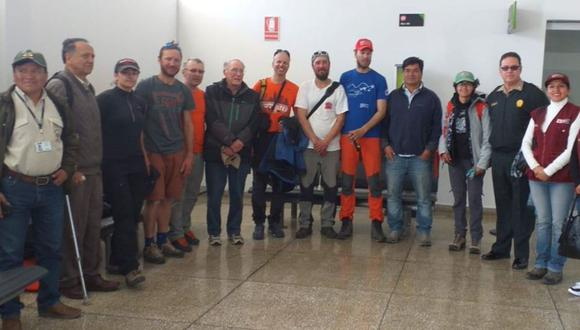 Los científicos fueron evacuados con el resguardo de las fuerzas del orden hasta el aeropuerto de Anta, en Áncash. (Foto: Andina)