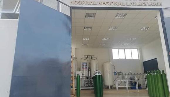 Lambayeque: el oxígeno que será distribuido es el excedente de la planta inaugurada en el Hospital Regional. (Foto: Difusión)