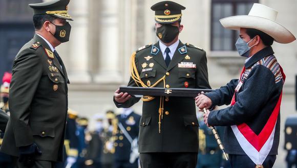 Al inicio de su gestión, el presidente Pedro Castillo fue reconocido como jefe supremo de las FFAA y PNP, en una ceremonia sin prensa en Palacio de Gobierno (Foto: Presidencia)