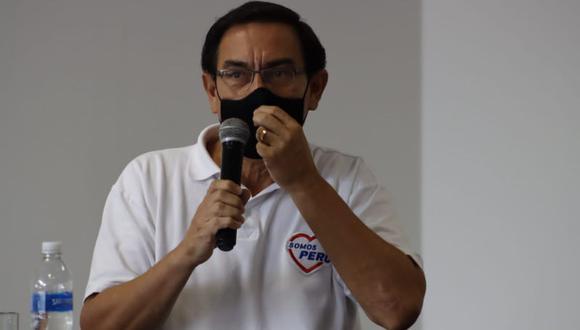 """El expresidente Martín Vizcarra dijo que cuestionar la labor del JNE es """"jugar con fuego"""". (Foto: Randy Reyes)"""