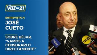 """José Cueto sobre declaraciones de Béjar:"""" Vamos a censurarlo directamente"""""""