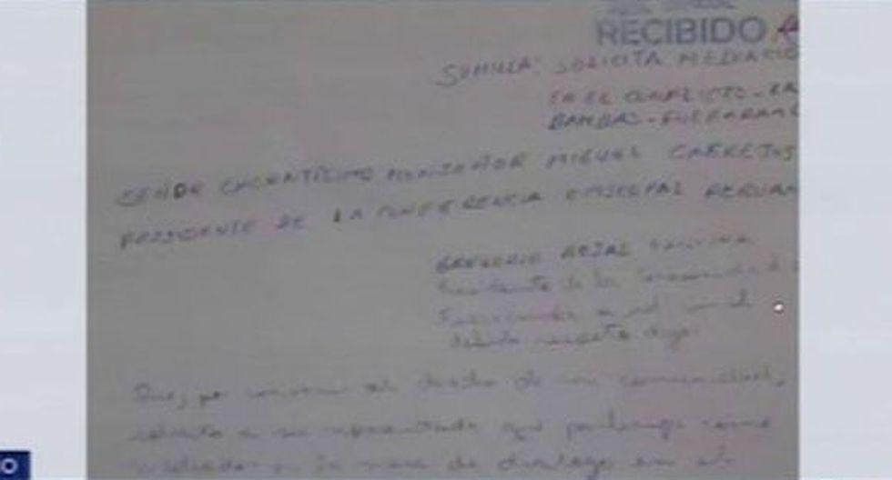 La carta fue recibida por el Episcopado Peruano esta mañana. (Foto: Captura/Canal N)