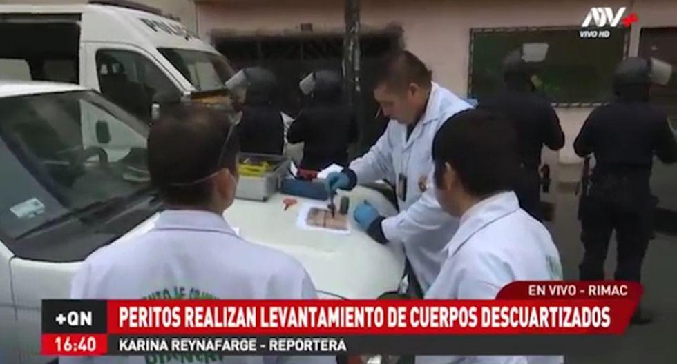 La Policía realizó la diligencia en una calle del Rímac. (ATV+)